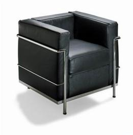 Wholesale Interiors 610-chair Le Corbusier Chair Black