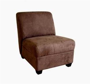 Wholesale Interiors A-85-CV-04 Micro Fiber Club Chair Dark Brown