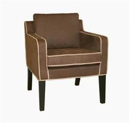 Wholesale Interiors Y-222-CV-4 CV-6-Tan Micro Fiber Club Chair Tan