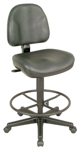 Alvin CH444-90DH Drafting Chair Premo Blk Leath