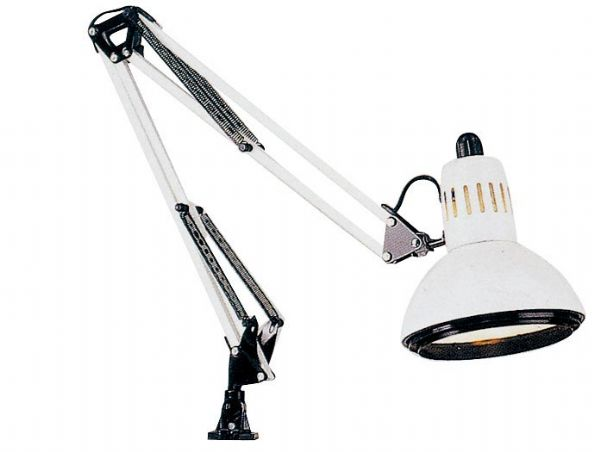 Alvin G2540-D Lamp Swing Arm Wht 100watt