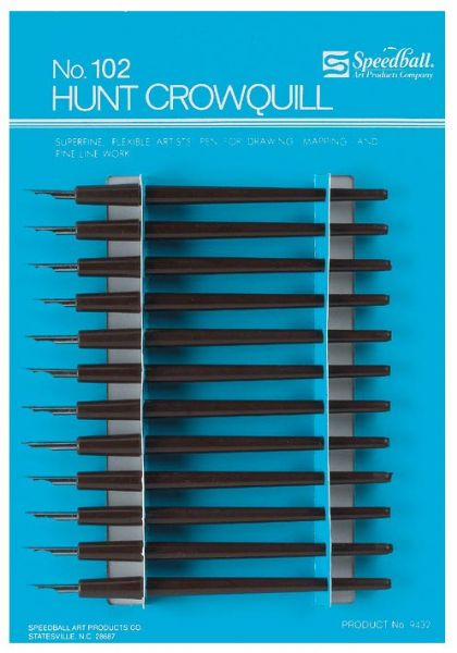 Alvin 102C Speedball Crow Quill Pen Set