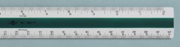 Alvin 764PM Scale 300mm Metric - English