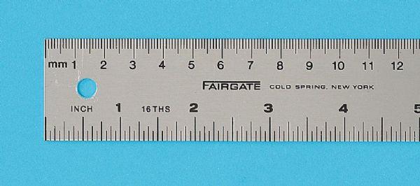 Alvin MS-100 Rule Eng-metric 100cm 16th&mm