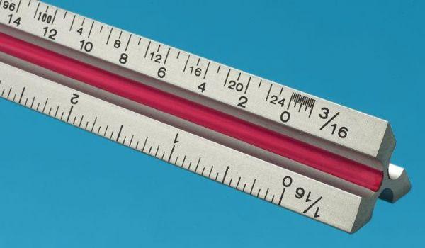 Alvin TA12 Scale-triangular alum.12 Arch