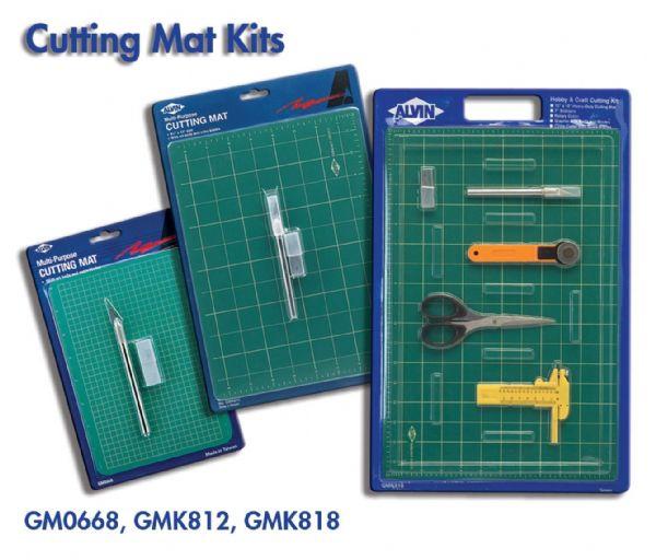 Alvin GMK812 Cutting Mat W-knife 8.5x12
