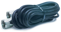 Roadpro RP-18CC 18ft Rg58au Cable with Pl259