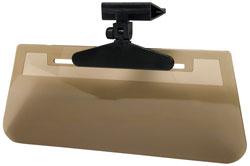 Custom Accessories 70006 Sun Visor Clip-On Ray Stopper Smoke
