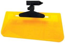 Custom Accessories 70036 Sun Visor Clip-On Ray Stopper Amber