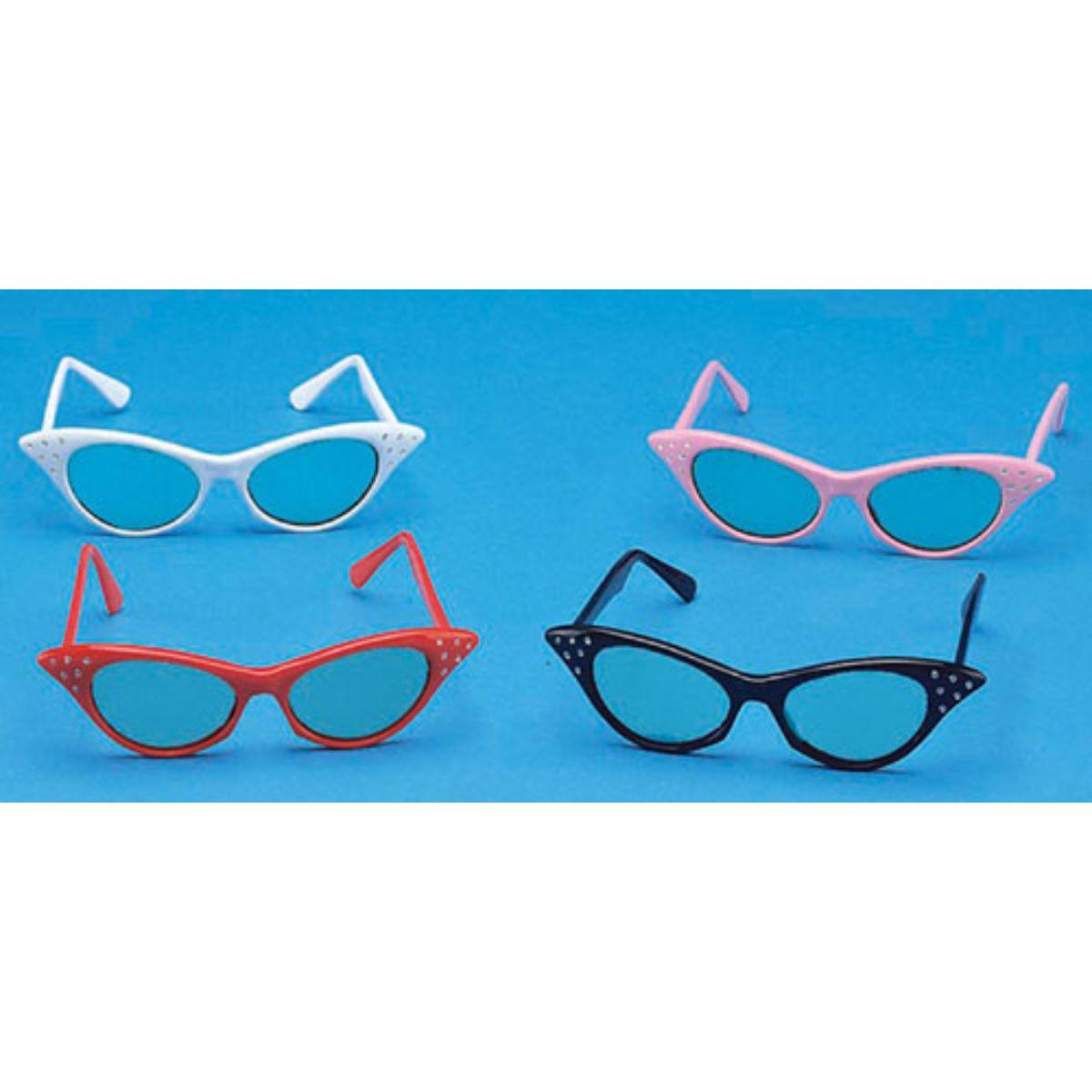 Cruisin USA 27336 Catseye Glasses White