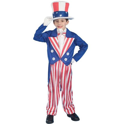 Forum Novelties Inc 20755 Uncle Sam Child Costume Size Small-  Size 4-6