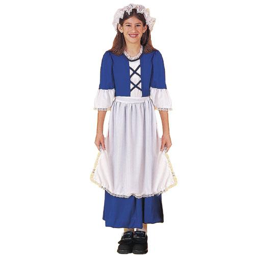 Forum Novelties Inc 20877 Little Colonial Miss Child Costume Size Large-  Size 12-14