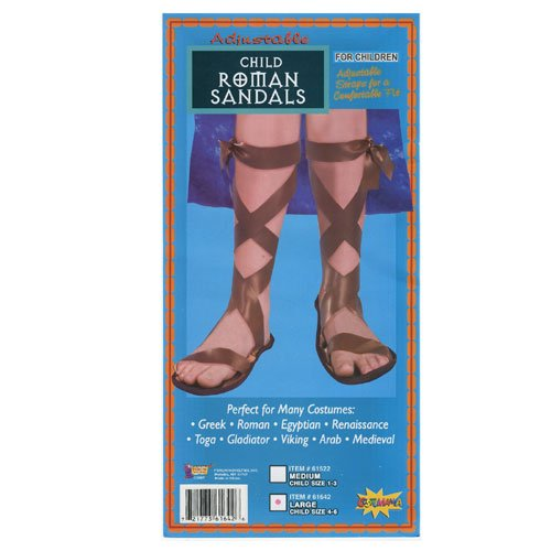 Forum Novelties Inc 33760 Roman Sandals Child Size Medium 1-3