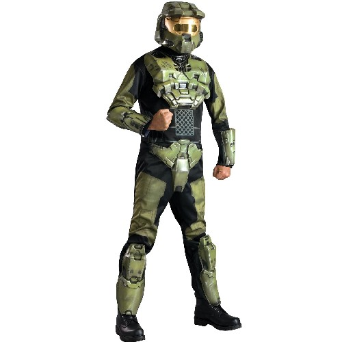 Rubies Costume Co 33208 Halo 3 Deluxe Master Chief Adult Costume Size Standard- Men Size 46   Chest-6