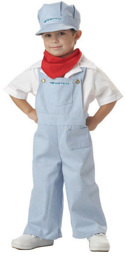 California Costume Collection 31568 Amtrak Train Engineer Toddler Costume- Size 2-4
