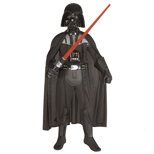 Rubies Costume Co 19106 Star Wars Darth Vader Deluxe Child Costume Size Medium- Boys 8-10
