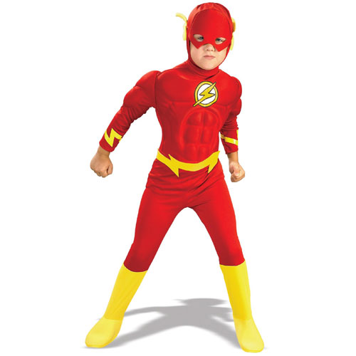 Rubies Costume Co 21075 The Flash Muscle Chest Deluxe Child Costume Size Large- Boys 12-14