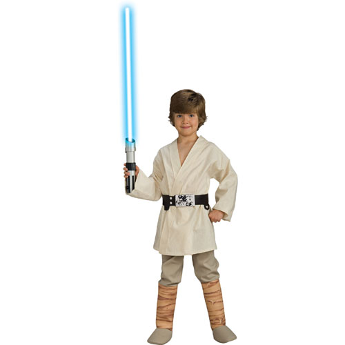 Rubies Costume Co 33111 Star Wars Deluxe Luke Skywalker Child Costume Size Medium- Boys 8-10