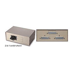 4 To 1 Parallel Printer Switchbox DB25f