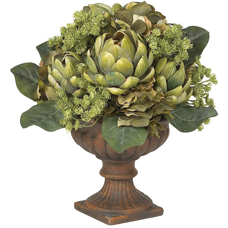 Nearly Natural 4635 Artichoke Centerpiece- Green