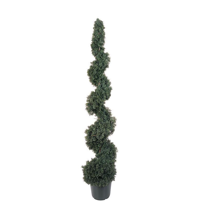 Nearly Natural 5166 Cedar Spiral Silk Tree 5 - In-door- Out-door - Green