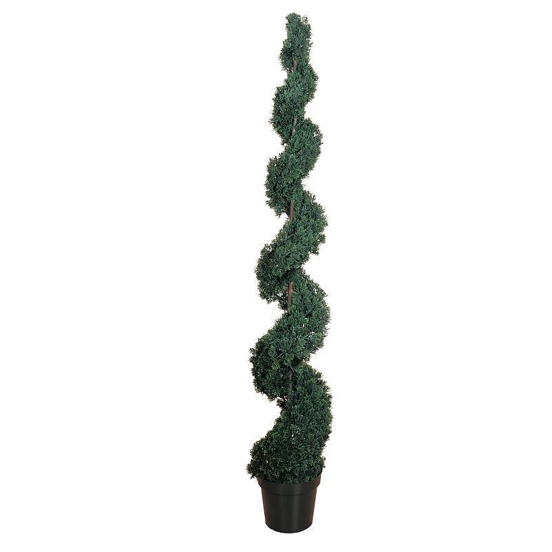 Nearly Natural 5167 Cedar Spiral Silk Tree 6 - In-door- Out-door - Green