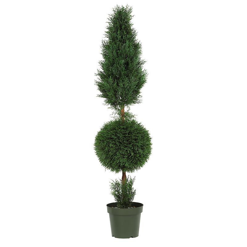 Nearly Natural 5168 Cypress Ball and Cone 5 - In-door- Out-door  Silk Tree- Green
