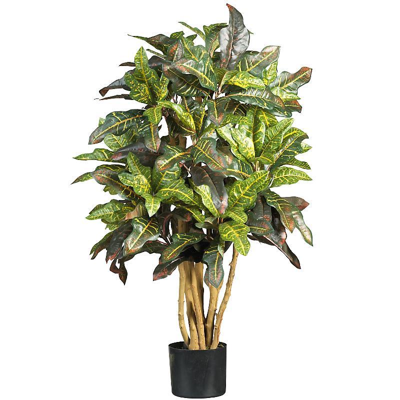 Nearly Natural 5182 3  Croton Silk Tree- Green
