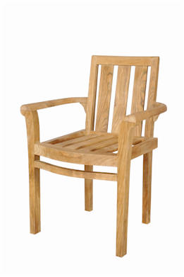 Anderson Teak CHS-011A Classic Stackable Armchair