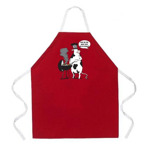 L.A. Imprints 2012 Cow BBQ Grilling Apron