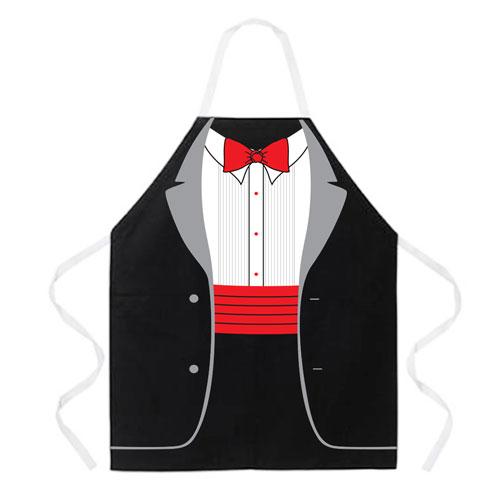 L.A. Imprints 2082 Poly Cotton Tuxedo Apron in Black