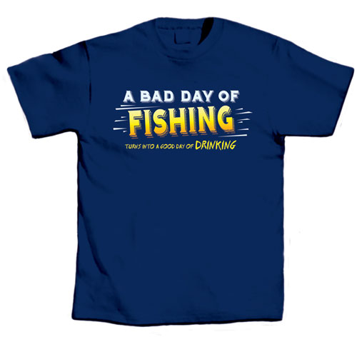 L.A. Imprints 1001S A Bad Day of Fishing - Small T-Shirt