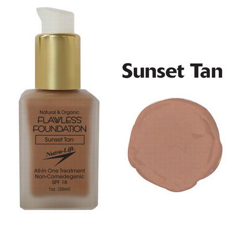 Nutra-Lift 676896000723 Sunset Tan Flawless Foundation NTR133
