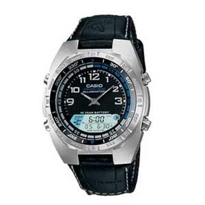Casio Amw700B-1Av Gray Pathfinder Watch- Cloth Band- Fishing Timer - Watch