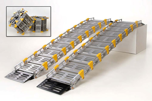 Roll-A-Ramp A11207A19 Wide Twin Track Ramp  8 Ft Long x 12 Inch