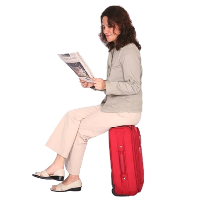 SeatKase SK 1-RED Carry-On Luggage - Red