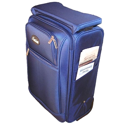 SeatKase SK 1-BLUE Carry-On Luggage - Blue