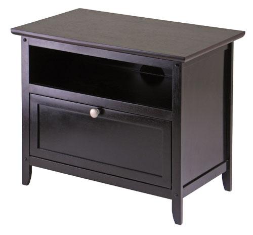 Winsome 92125 Zara TV Stand - Espresso