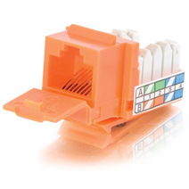 Cables To Go 35205 Cat5E 90 Keystone Jack Orange