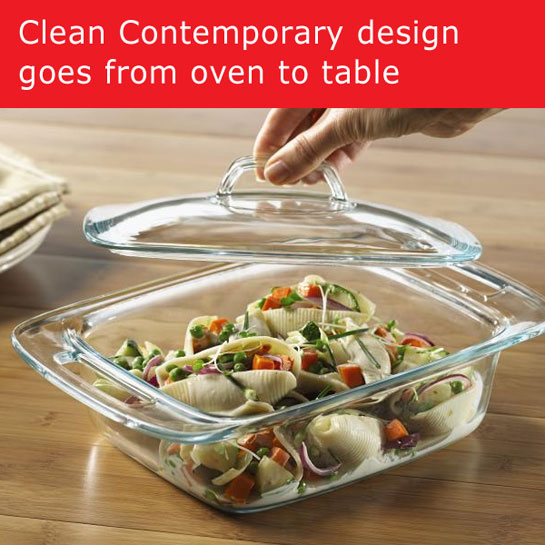 Pyrex 1085801 Easy Grab 2qt  Casserole with Glass Cover