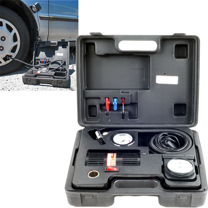Trademark Tools Portable Air Compressor Kit with Light