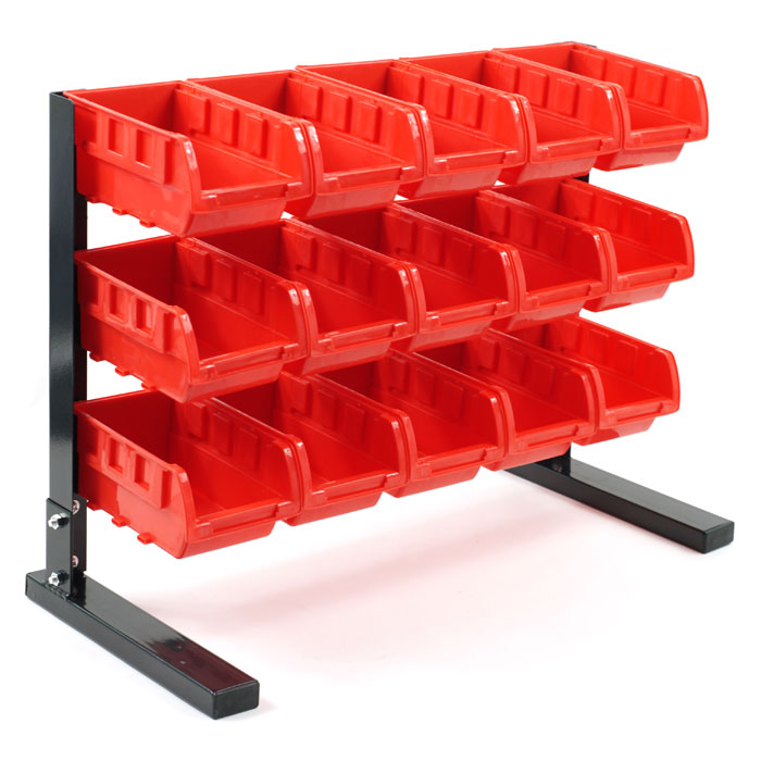 Trademark Tools Bench Top Parts Rack - 15 Pieces