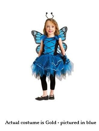 Costumes For All Occasions FW114071TS Ballerina Butterfly Toddler Small 24M-2T - Gold