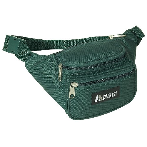 Everest 044KD-GN 11.5 in. Wide Everest Signature Fanny Pack
