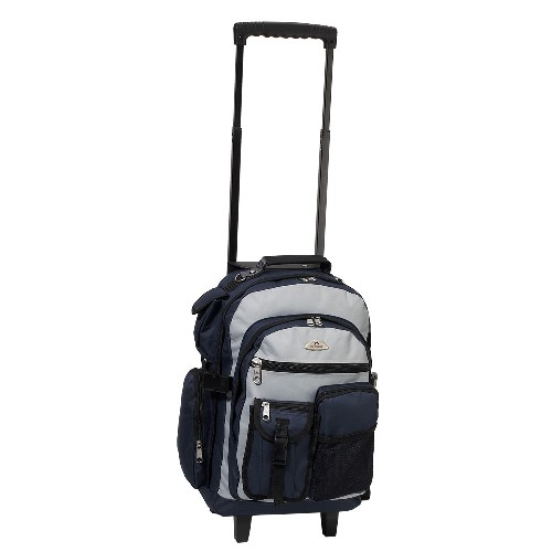 Everest 5045WH-GY 18.5 in. Deluxe Rolling Backpack