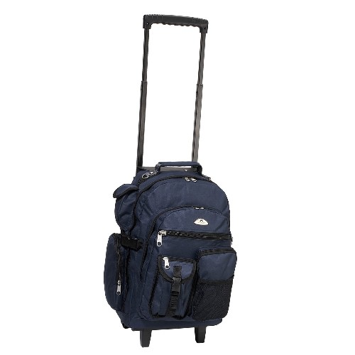Everest 5045WH-NY 18.5 in. Deluxe Rolling Backpack