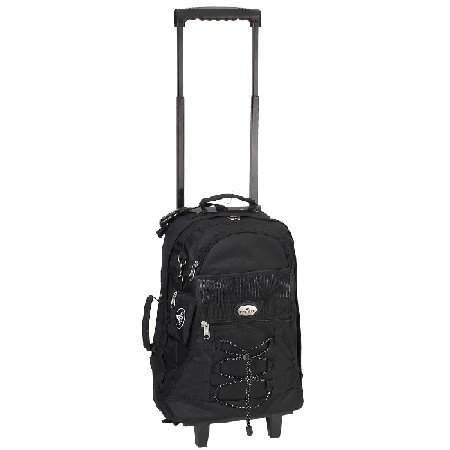 Everest 7045WH-BK 18 in. Telescoping Rolling Backpack