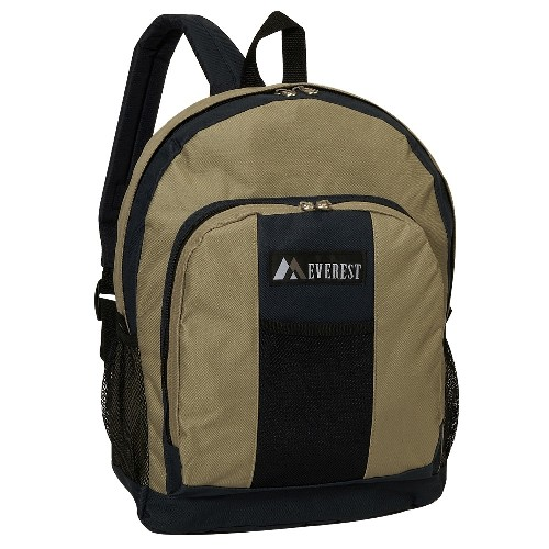 Everest BP2072-KK 17 in. Backpack with Front and Side Pockets