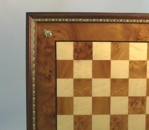 Ital Fama 432EBG Elm Briarwood Maple Framed Chess Board