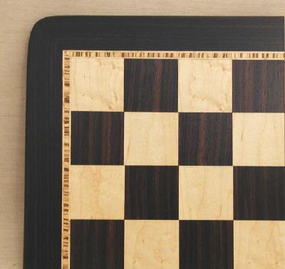 WW Chess 55520EBM Ebony -Birdseye Maple Veneer Board